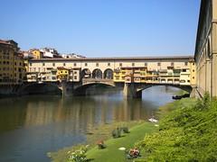 Ponte Vecchio - Florence (FedeFli) Tags: ponte brigde florence firenze italy italia tuscany toscana sky water river city architecture