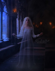 Ghost (LaraGirlySkull) Tags: goth halloween ghost gothic fantasy ilustracion dark darkart darkness darklady gotica gothgothic photomanipulation fotomanipulacion