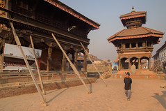 Bhaktapur waiting for reconstruction (Ivo De Decker back from holiday) Tags: nepal nepali bhaktapur temple durbarsquare travel cityscape ivodedecker morninglight outdoor outside
