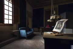 Bourgeois Abandonment #11 - The Billiard Room - (Stokaz) Tags: sigma 1020 ex dc hsm urbex decay urban exploration bourgeois abandonment hdr blue sofa room stokaz 2016 billiard window