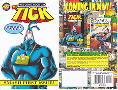 THE TICK FCBD MAY 2010 (vsndesigns) Tags: beta the tick vs arthur sentinel prime optimus successor townsend coleman lego minifig minifigure dcon 2014 ball mylar balloon buttons bonanza pencil indie shocker gbjr toys with tie and tshirt zombie in a steel box fox promotional totally kids magazine 45 club spoon taco bell meal commercial eli stone ben edlund little wooden boy comic book merchandise rare limited edition 80s 90s collector museum naked super hero heroine collection photo screen