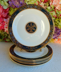 Royal Doulton Porcelain Dinner Plates ~ Carlyle ~ Floral ~ Gold (Donna's Collectables) Tags: royal doulton porcelain dinner plates ~ carlyle floral gold