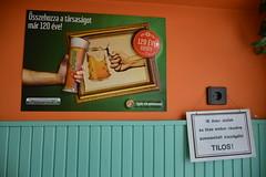 Not under 18 (snoeziesterre) Tags: reizen treinreizen nvbs sne 2016 hongarije sloveni oostenrijk treinen trains traintravels traveling alcohol bier pils soproni reclame kleur kleurrijk alcoholwet bar caf