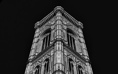 Giotto's... (JH Images.co.uk) Tags: giotto bell tower florence symmetry symmetric hdr dri architecture firenze campanile bw blackandwhite