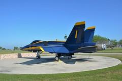 F/A-18A Hornet, U. S. Navy (161967), Naval Air Station Kingsville, Texas (EC Leatherberry) Tags: usnavy aircraft military attackaircraft fighteraircraft texas mcdonnelldouglasaircraft blueangels navalairstationkingsville mcdonnelldouglas hornet fa18ahornet