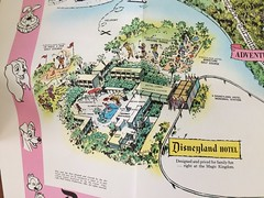 Disneyland Map - Hotel (Retrolandia) Tags: disneyland 1960s disneylandhotel
