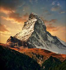 Greeting the sun (Katarina 2353) Tags: landscape autumn matterhorn switzerland zermatt katarina2353 katarinastefanovic film nikon