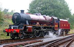 Leander At Oxenhope. (neilh156) Tags: steam steamloco steamengine steamrailway railway 5690 leander oxenhope keighleyworthvalleyrailway kwvr worthvalleyrailway lmsjubilee jubilee 5xp lms stanier lmsred