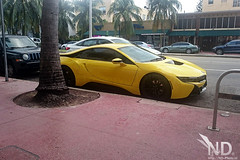 Black & Yellow BMW i8 (ND-Photo.nl) Tags: miami 2016 supercar car sport sports hypercar hyper super southbeach south beach bmw i8 black yellow