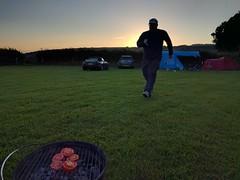Camping at Waungadog (deadmanjones) Tags: running nackuk waungadogfarm camping campsite sunset miniclubman mazdamx5 cydweli kidwelly tomatoes