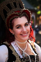 Regal Smile (wyojones) Tags: texas texasrenaissancefestival toddmission texasrenfest renfest renfaire renaissancefaire faire renaissancefestival festival trf girl woman brunette maiden wench cute pretty lovely gorgeous beautiful beauty browneyes smile lips redlips queen spanish lady royalty queenjuana rachel