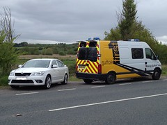 Skoda Octavia Vrs of Suffolk Police and Vauxhall Movano Dti 3500 Lwb ANPR van (Ian Press Photography) Tags: cars car river suffolk traffic reader transport police plate number automatic service vans van emergency services vauxhall skoda octavia 999 vrs 3500 stour unmarked dti a137 lwb anpr brantham movano
