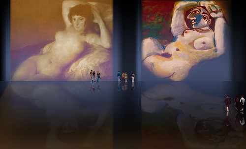 "Majas, homenajes de Francisco de Goya y Lucientes (1802), Eugéne Delacroix (1826), Amadeo Modigliani (1916), Pablo Picasso (1906), (1931), (1959), (1964). • <a style=""font-size:0.8em;"" href=""http://www.flickr.com/photos/30735181@N00/8747970350/"" target=""_blank"">View on Flickr</a>"