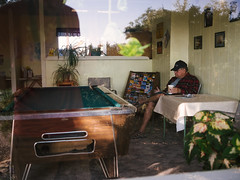 KOA (BurlapZack) Tags: morning vacation reflection coffee newspaper candid roadtrip stranger tourist yellowstonenationalpark yellowstone wyoming grandtetons pooltable familyvacation selfie gameroom retiree grandtetonnationalpark homewardbound pensioner waitingarea kampgroundofamerica panasoniclumix20mmf17 vscofilm olympusomdem5