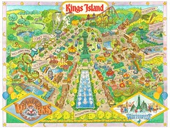 Kings Island (1989) (matthunterross) Tags: park ohio amusement map cincinnati souvenir theme kingsisland
