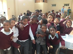 Students at the Smutsville Primary School all wanted their photos taken!