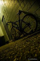 road-bike-night.jpg (r.nial.bradshaw) Tags: nightphotography bike bicycle night photo nikon image commute creativecommons stockphoto stockphotography royaltyfree attributionlicense nikond40 1870mmafs lightroom4 rnialbradshaw