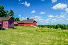 Olana - The Farm (gdajewski) Tags: nikond7000 nikkor1855mmf3556 gdajewski dajewski landscape barn red field farm olana historicsite