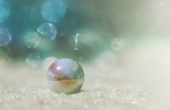 dream pearl (rockinmonique) Tags: bokeh pearl marble marvellousmarbles sand beach blue sparkle glitter pretty moniquew canon tamron copyright2016moniquewphotography