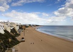 Albufeira Beach (Hans van der Boom) Tags: europe portugal algarve vacation holiday albufeira beach sand sea empty pt