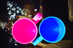 In love with Flickr (petrapetruta) Tags: blue pink bokeh heart round cups passthetime flickrfriday sonya7