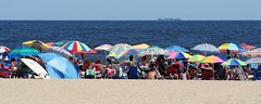 Beach Umbrella Scene (markchevy) Tags: jerseyshore atlantic ocean beach sandy boardwalk umbrellas colorful oceangrove nj newjersey landscape photo pictorial pix scene graphic picture vista omdem10 interesting markchevy johnspilatro