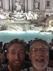 Selfie with Graham at Trevi Fountain (David_and_Marilyn_King) Tags: rome 2016 trevifountain fontana night illuminated fontaine selfies graham