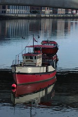 Mona Lagan (frisiabonn) Tags: lagan mona tour boat marine vessel water belfast uk united kingdom weir bridge river