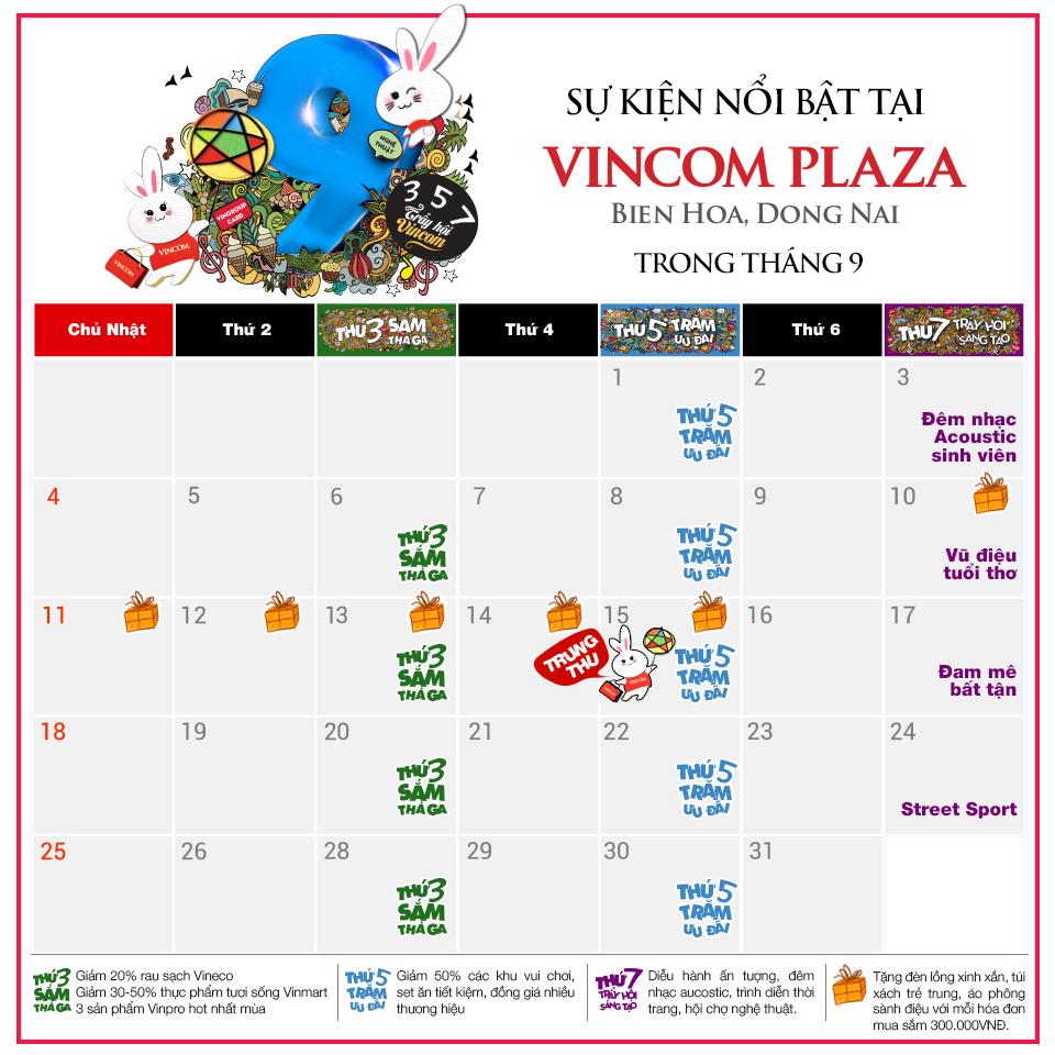 Tháng 9 này, có gì chờ bạn ở Vincom Plaza Biên Hòa