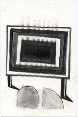 Basel_01 (JENS01) Tags: bleistift zeichnung pencildrawing drawing art kunst sketch skizze malen abstrakt abstractart graphite sketchbook skizzenbuch blackwhite