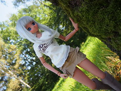 Welcome Chitose <3 (sh0pi) Tags: smart doll chitose kasshoku danny choo culture japan cargo skirt beige long boots brown frill tshirt ebony