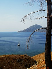 The view from the hill..charamida beach..Lesbos Greece (panoskaralis) Tags: beach sailing sailboat sail bluesea seaside sea bluesky sky summer greeksummer summerholidays holidays mytilene greece greek hellas hellenic navy greeknavy nature
