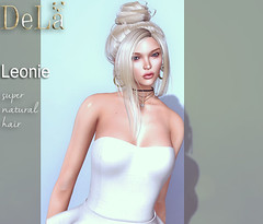 """=DeLa*= new hair """"Leonie"""" (=DeLa*=) Tags: dela hair fitted mesh materials secondlife secondlifefashion sl slhair style tres chic new"""