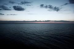 Baltic (jean_pichot1) Tags: sweden vast clouds sky pink waves dark sunset gtland horizon sea ferry