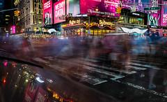 7th Avenue (iShootPics) Tags: lights reflections le sonya7r motion night street nyc