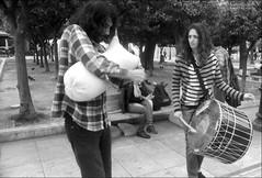 Epic Messenian music on Syntagma Sq. (georgios a.v.) Tags: nikkormatel nikkorh3528 mflenses glyfada greece monochrome blackandwhite kodakprotmax100 ilfordrapidfixer
