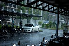 IMG_0943_1 (pavel.milkin) Tags: thailand phuket bangtao laguna phuketlaguna cars parking tree road rainy moto bike rain travel canon canon550d 550d helios helioslens helios442 442 old colour endlesssummer drop