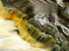 Muddy Waters (Mirrored-Images) Tags: blur bowleesbeck codurham colour icm intentionalcameramovement le light longexposure movement nature outdoor reflections river teesdale water waterfall