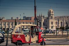 Tuk-Tuk Calling... (Gilderic Photography) Tags: portugal belem lisbonne tuktuk lisbon lisboa monastery tourism vacation street city ville canon 500d gilderic
