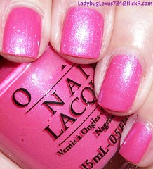 OPI Hotter Than You Pink (ladybuglexus724) Tags: purple nail polish lacquer pink red holographic opi orly china glaze revlon finger paints
