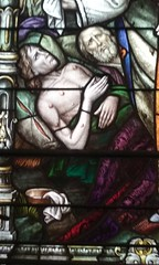 someone with plague pustules? (sftrajan) Tags: cathedral stlouiscathedral cathedralbasilicaofsaintlouiskingoffrance window interior art neworleans louisiana cathdrale cathdralesaintlouisroidefrance vieuxcarr frenchquarter stainedglass vitrail vitral vidrierapolicromada glasmalerei kathedrale catedral cattedrale medieval plague louisix saint detail