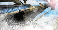[] as free as the high seas (taeeetae) Tags: second life secondlife cat neko black hopes dreams sea ocean water slurl sim