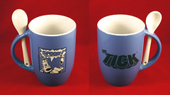 THE TICK SAN DIEGO COMIC CON 2016 POWDER BLUE AND WHITE CERAMIC COFFEE CUP WITH STIRRING SPOON (vsndesigns) Tags: beta the tick vs arthur sentinel prime optimus successor townsend coleman lego minifig minifigure dcon 2014 ball mylar balloon buttons bonanza pencil indie shocker gbjr toys with tie and tshirt zombie in a steel box fox promotional totally kids magazine 45 club spoon taco bell meal commercial eli stone ben edlund little wooden boy comic book merchandise rare limited edition 80s 90s collector museum naked super hero heroine collection photo screen
