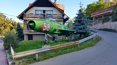 Mikoyan-Gurevich Mig.21F-13 c/n 741018 Bulgarian Air Force serial 518 Preserved in the town of Raduil, Bulgaria (sirgunho) Tags: mikoyangurevich mig21f13 cn 741018 bulgarian air force serial 518 preserved town raduil bulgaria mig 21