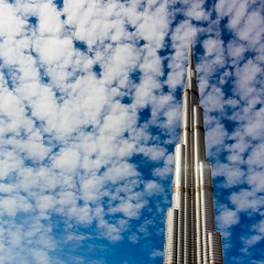 Lonely at the top (Sven Hauff) Tags: architecture burj khalifa sky clouds blue