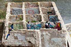 Human Tic Tac Toe (tourtrophy) Tags: sutrobaths ruins ruin goldengatenationalrecreationalarea sanfrancisco landsend canoneos7dmark2 canonefs55250mmf456isstm