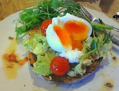Smashed Avocado and Chilli on Sour Dough Toast, Poached Free Range Egg (Tony Worrall) Tags: add tag ©2016tonyworrall images photos photograff things uk england food foodie grub eat eaten taste tasty cook cooked iatethis foodporn foodpictures picturesoffood dish dishes menu plate plated made ingrediants nice flavour foodophile x yummy make tasted meal northcote egg smashedavocadoandchillionsourdoughtoast poachedfreerangeegg