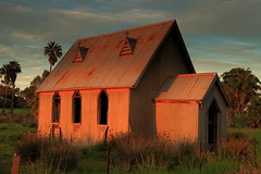 Worship the Light (Darren Schiller) Tags: suntop church abandoned architecture building corrugatediron closed derelict disused decaying deserted dilapidated decay empty evening galvanisediron history heritage iron newsouthwales old rural rustic rusty religion sunset