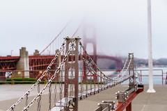 Big and small (MATluong) Tags: sanfrancisco goldengate goldengatebridge bridge california fog architecture bayarea travel matluong sonya7 sel55f18z sonnar5518za