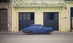Cuba- Blue Car Yellow Building (chrisbastian44) Tags: cuba cuban cubanpeople havana habana vsco replichrome people oldcars communist communism